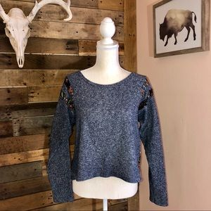 Paper Crane high low sweatshirt blouse